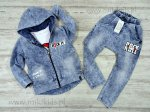 Bluza dekatyzowana a`la jeans ROCK / niebieska ALL FOR KIDS