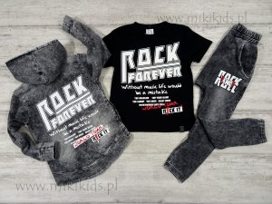 T-shirt czarny z grafiką  ROCK / All for Kids