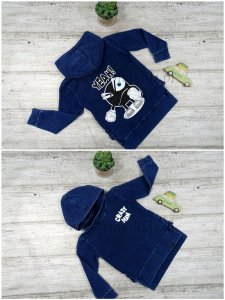 Bluza a`la jeans dekatyzowana CRAZY MAN / granat All for Kids