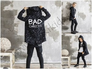 Bluza ocieplana BAD CHOICES / czarna ALL FOR KIDS