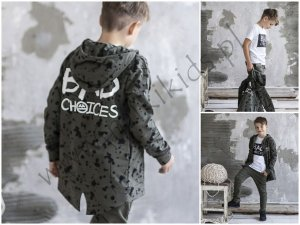Bluza ocieplana BAD CHOICES / khaki ALL FOR KIDS