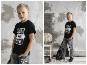 T-shirt ENJOY THE WAY czarny / ALL FOR KIDS
