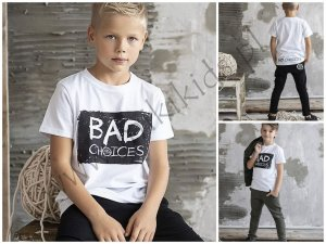 T-shirt BAD CHOICES BIAŁY / ALL FOR KIDS