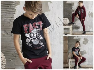 T-shirt  FAST / czarny / ALL FOR KIDS