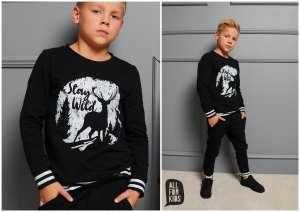 Bluza dzianinowa STAY WILD / czarna / All for Kids