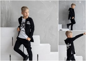 Bluza rozpinana REBEL SQUAD czarna / All for Kids