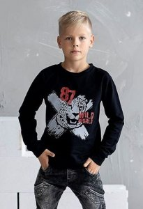Bluza dzianinowa z tygrysem / czarna All for Kids