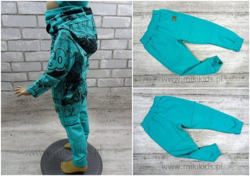 Spodnie dresowe z przeszyciami lazurowe MIMI
